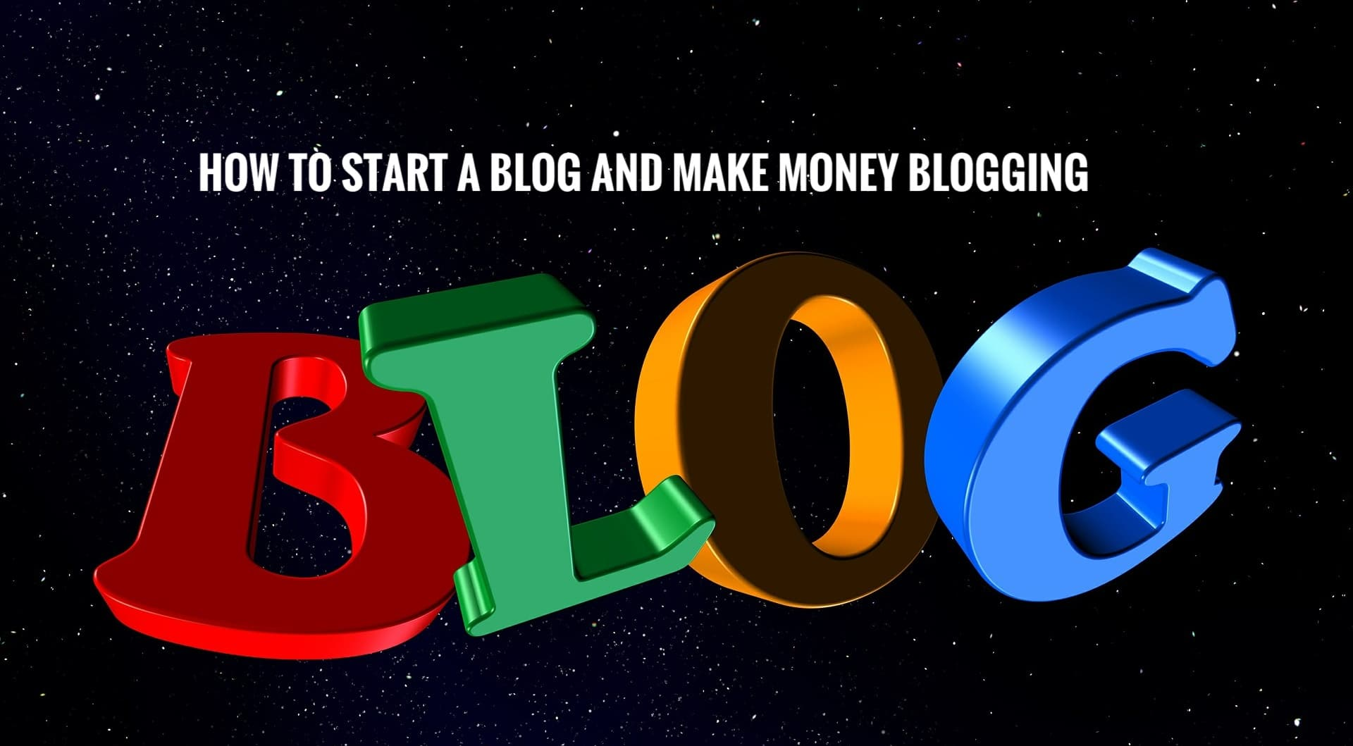 Image that displays our topic on how to start a blog