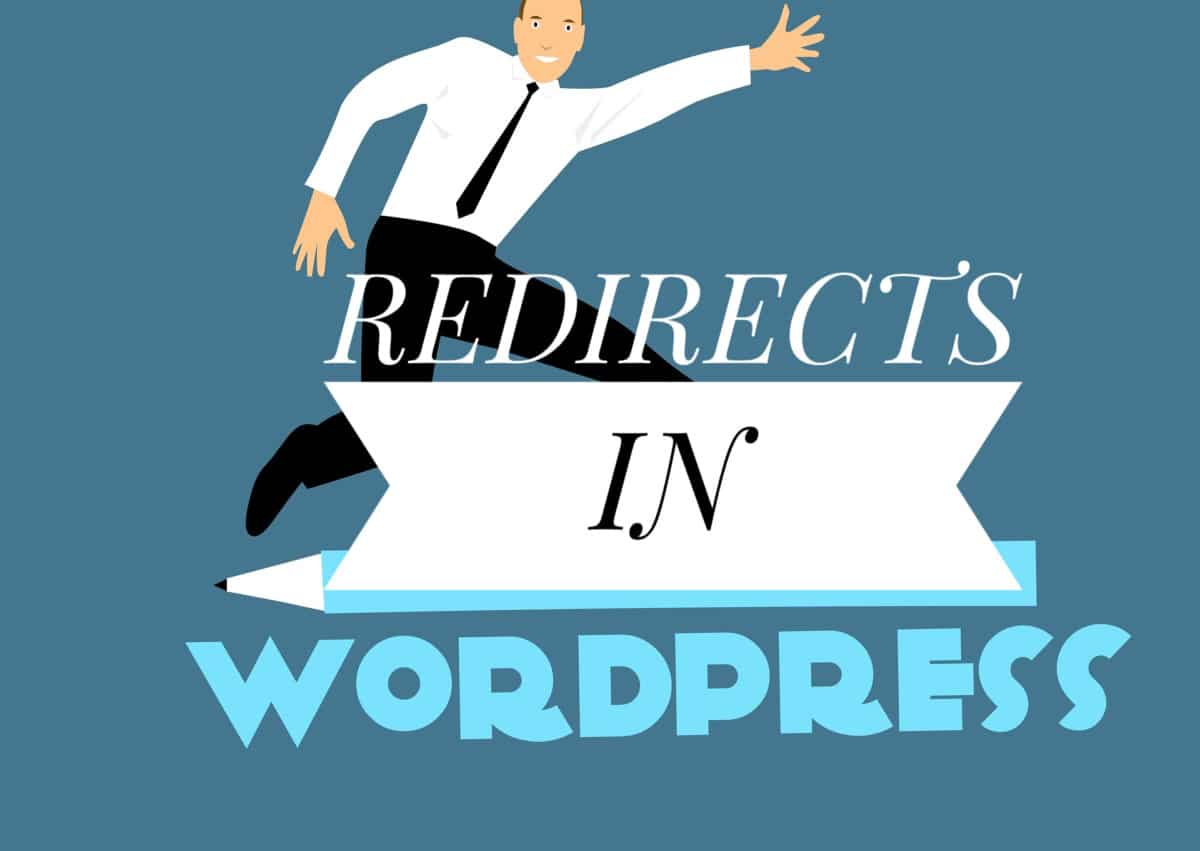 Image of a man commanding a redirect in wordpress