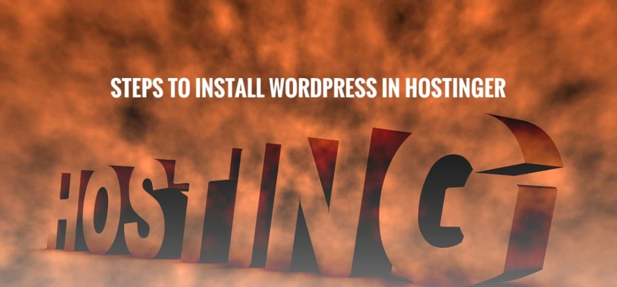 Image that displays how to install WordPress in Hostinger