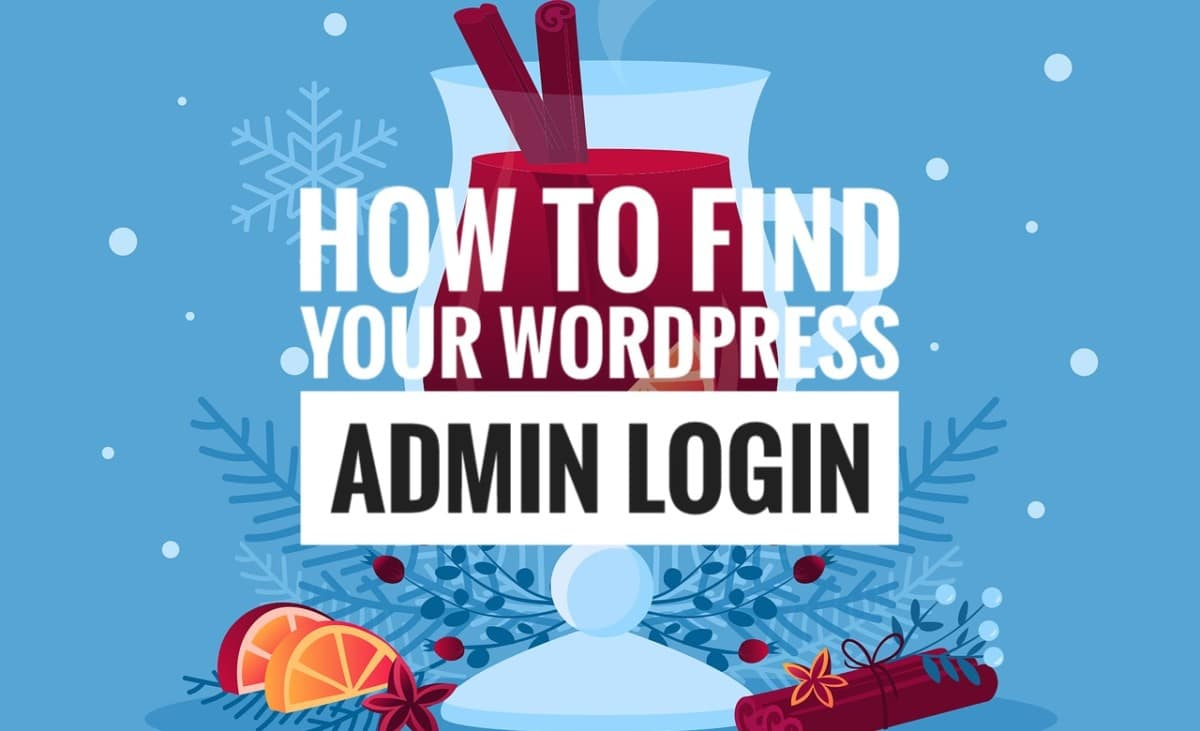 Image which bears the inscription of the topic on how to find your WordPress admin login